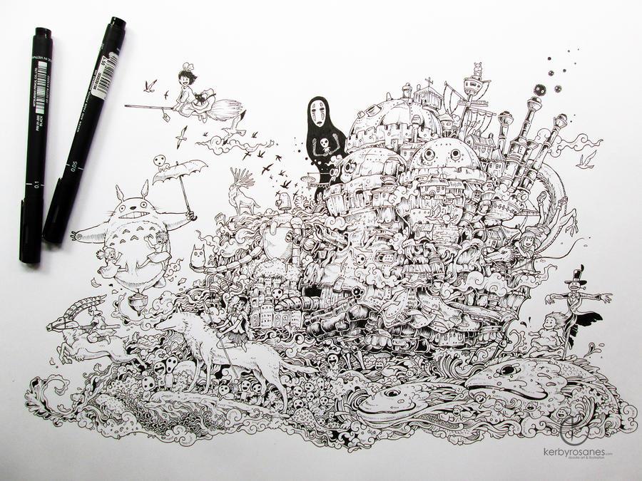 Hayao Miyazaki Tribute By Kerbyrosanes On Deviantart