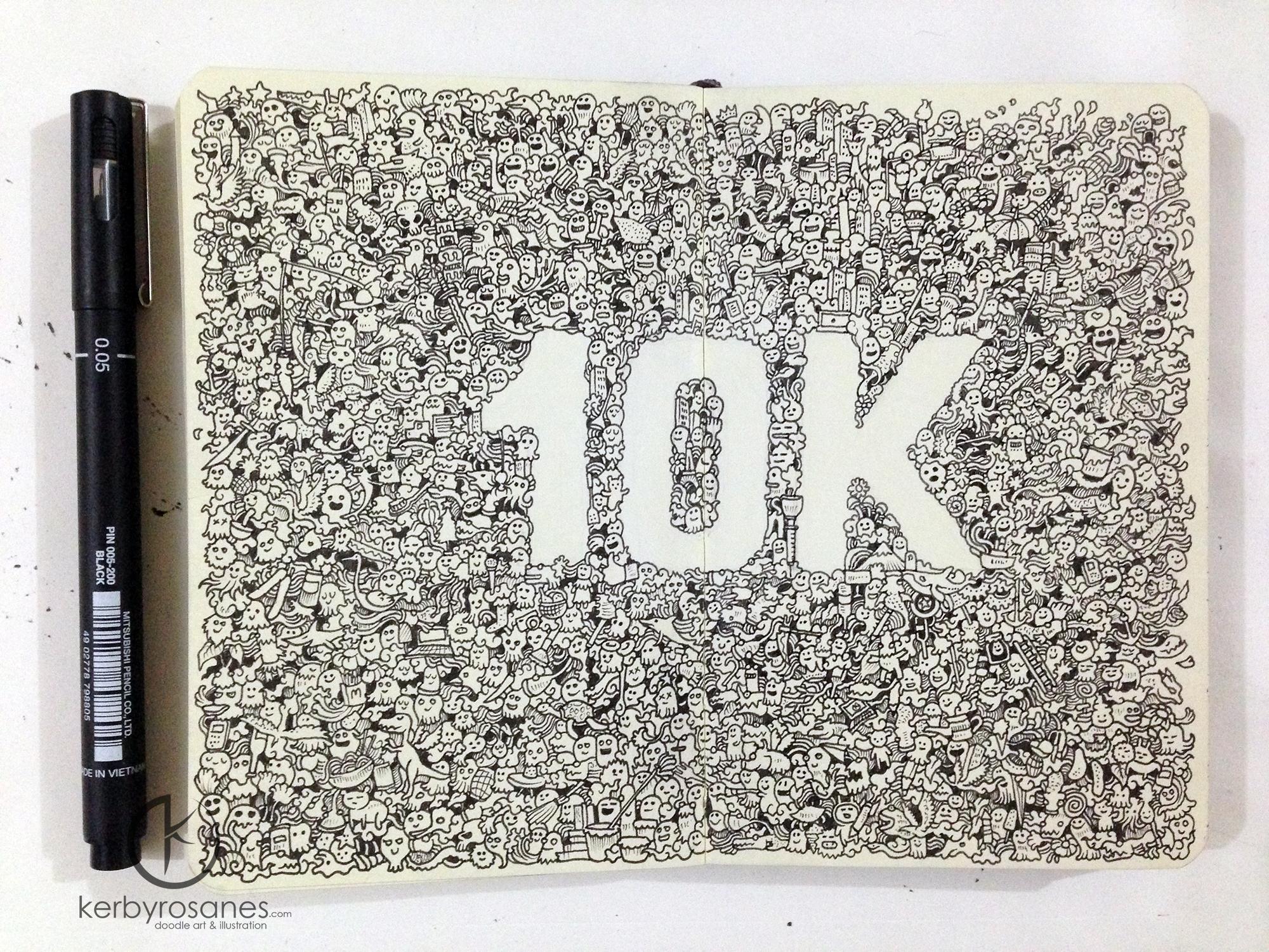 MOLESKINE DOODLES: 10K by kerbyrosanes