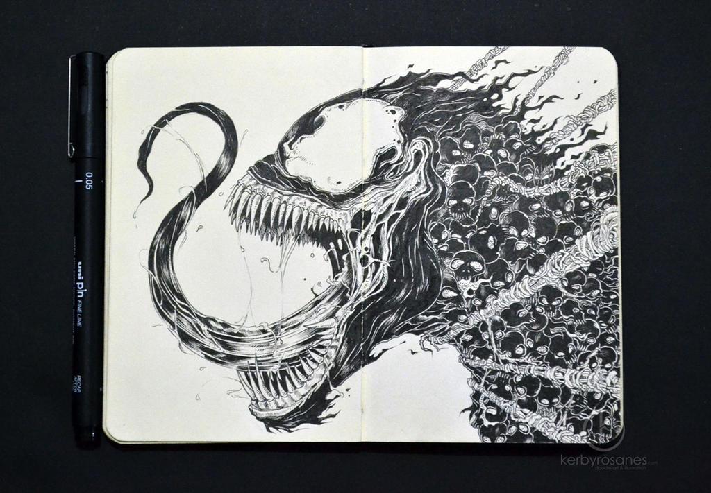 MOLESKINE DOODLES: Venomous by kerbyrosanes