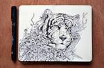 MOLESKINE DOODLES: White Tiger
