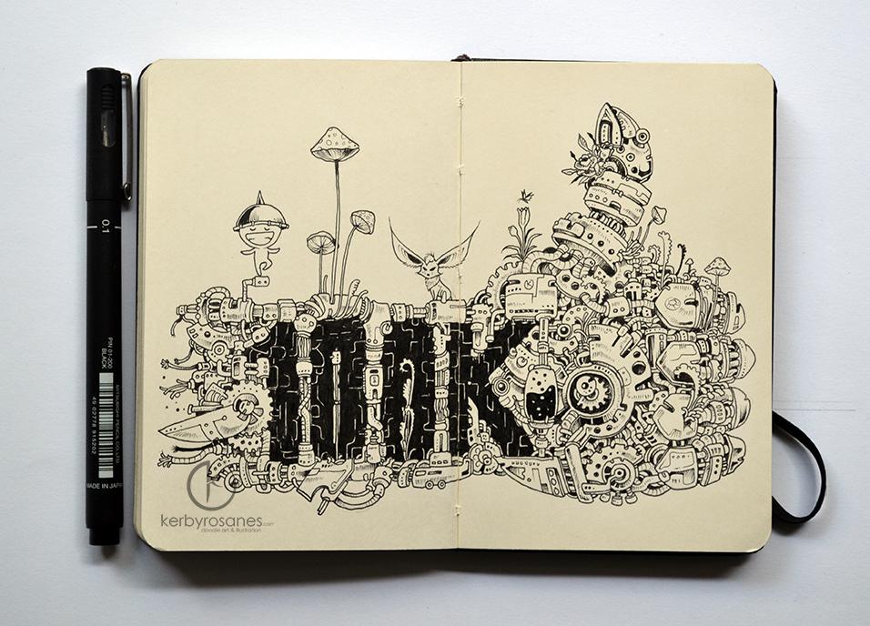 MOLESKINE DOODLES: 100K by kerbyrosanes
