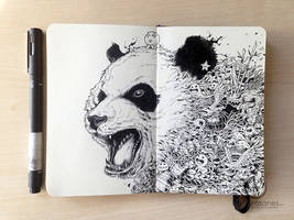 MOLESKINE DOODLES: Black and White Cat-Foot