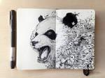 MOLESKINE DOODLES: Black and White Cat-Foot
