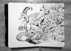 MOLESKINE DOODLES: Capricorn by kerbyrosanes