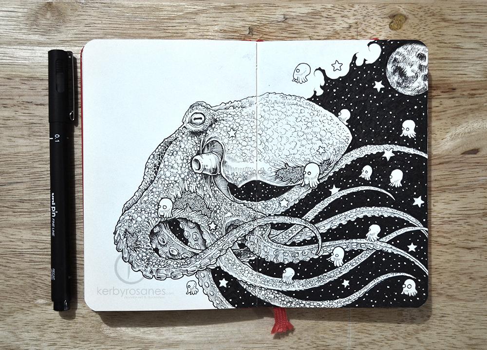Celestial Mollusca by kerbyrosanes