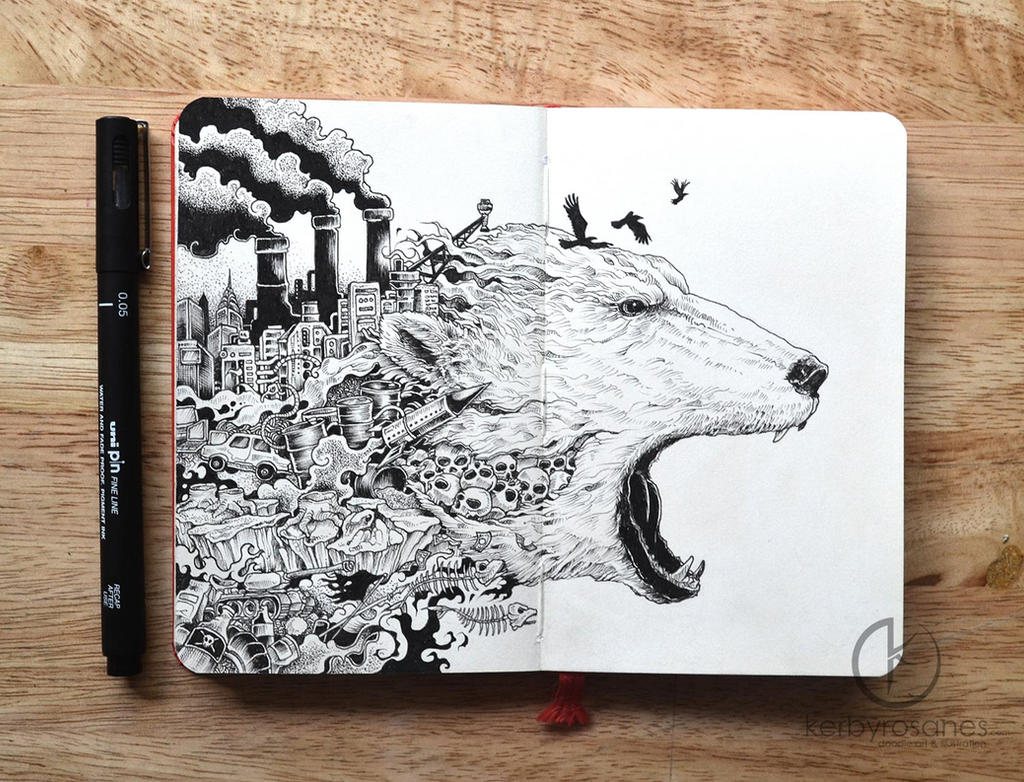 Tumblr notebook cover ideas little ideas notebook from the - Moleskine Doodles Meltdown By Kerbyrosanes On Deviantart