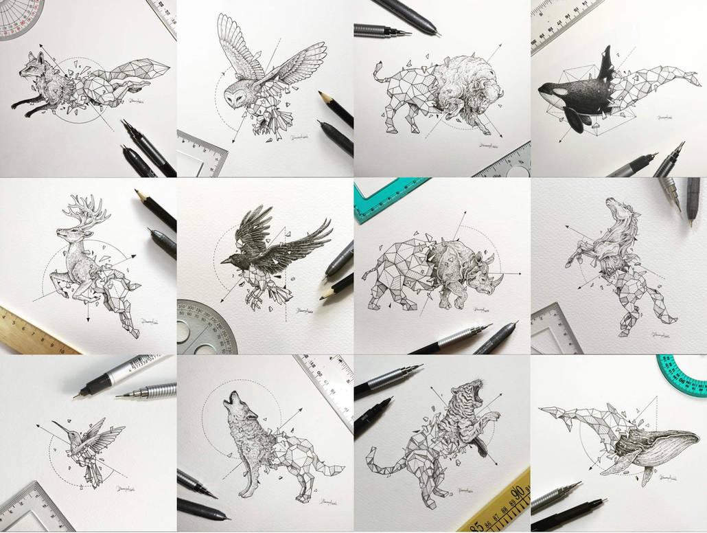 Geometric Beasts Series