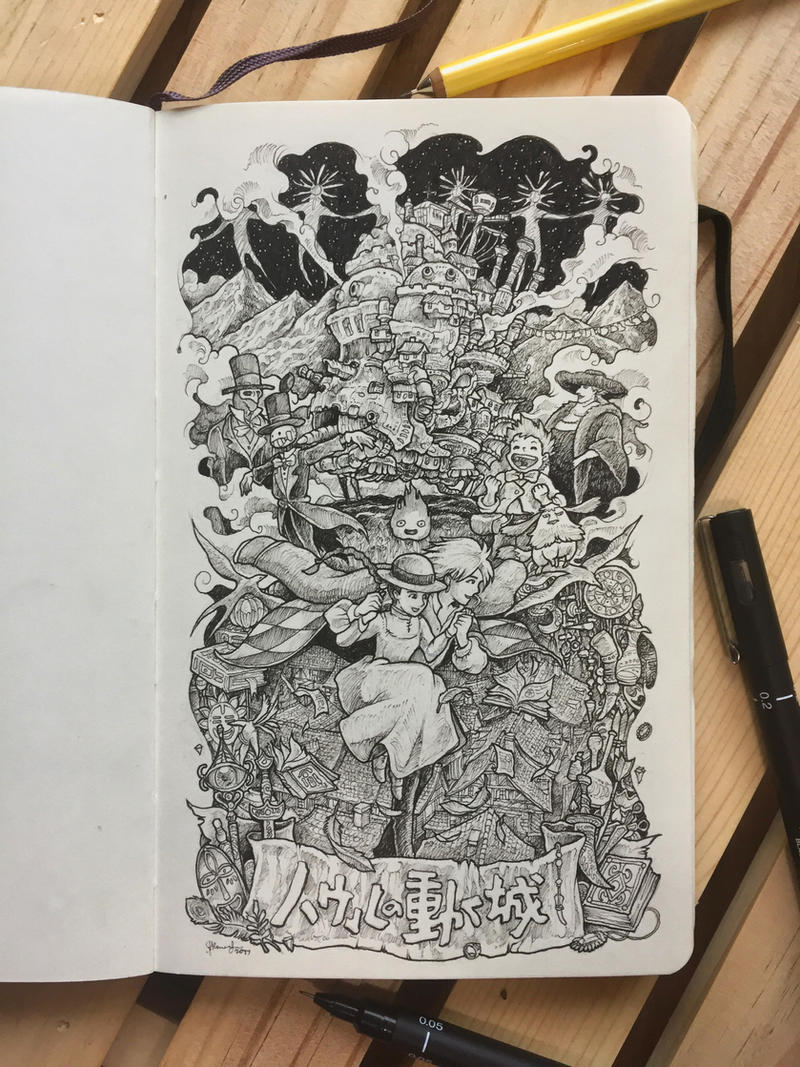 Hauru no Ugoku Shiro by kerbyrosanes