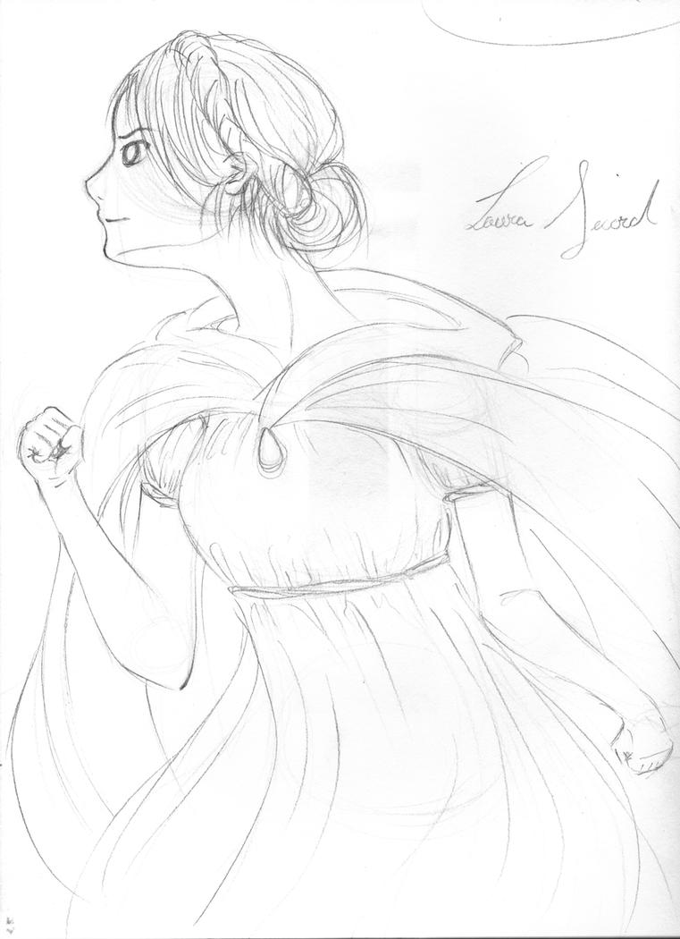 Rough Sketch: Laura Secord by insanity-pillz