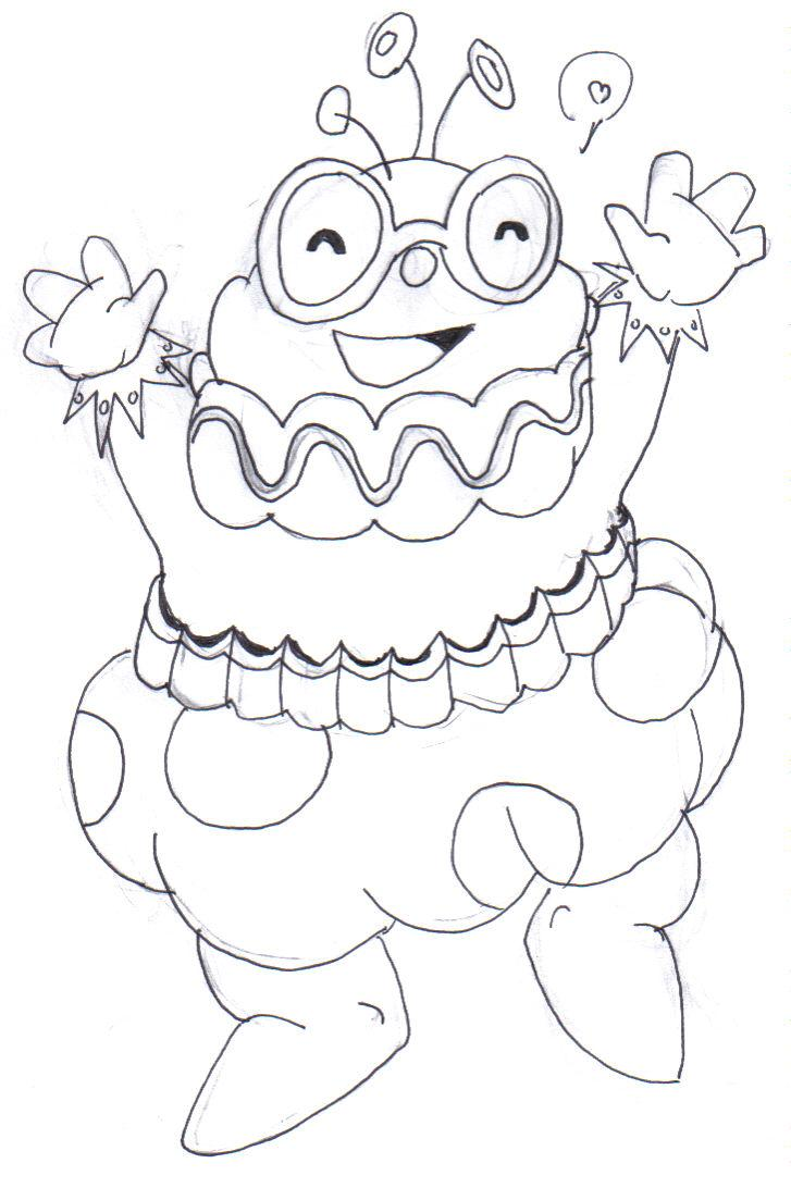 candyland coloring pages - candyland jolly by llamabeast on deviantart