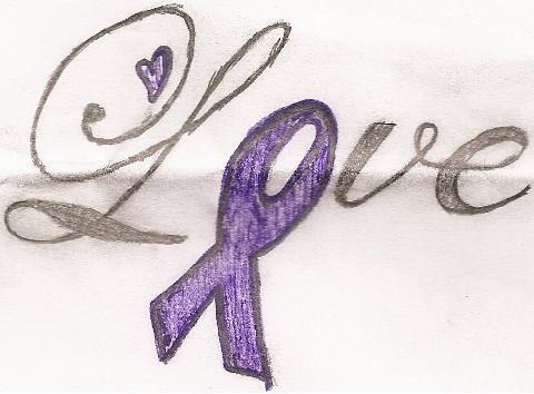 Domestic Violence Ribbon Tattoos