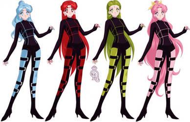 The Asteroid Senshi Quartet Sisters