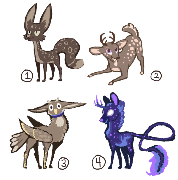 Various Adoptables by Paper-Phoenix-Adopts