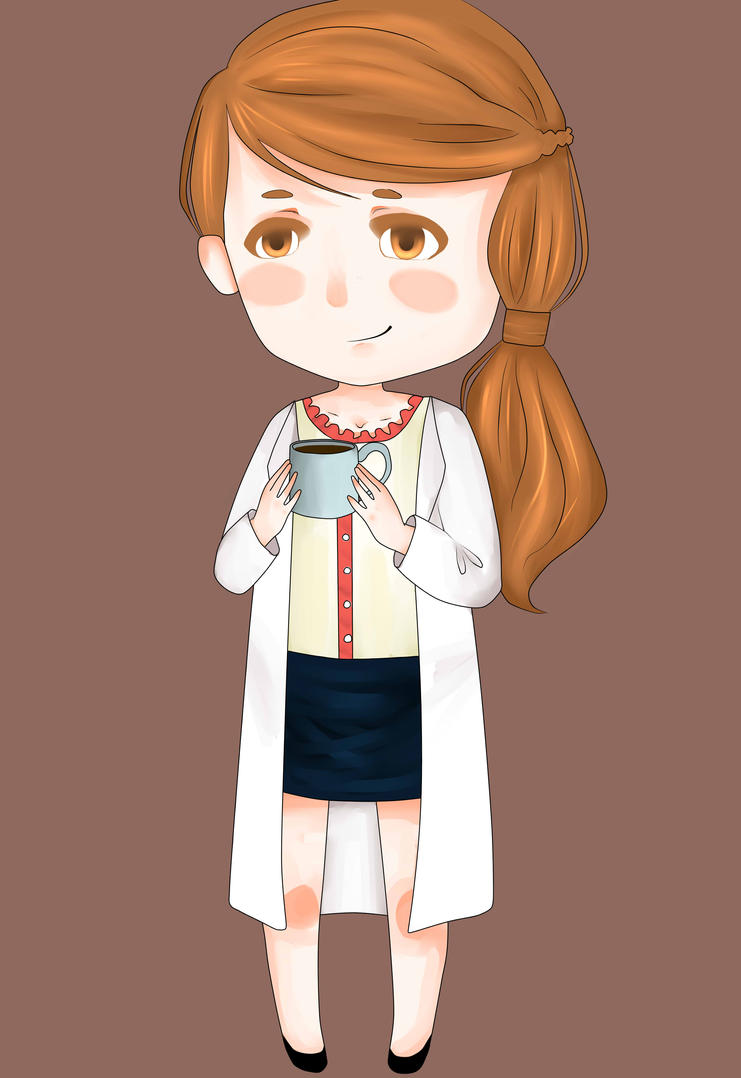 Molly Hooper Chibi by emil-bee