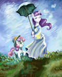 Mare with Parasol