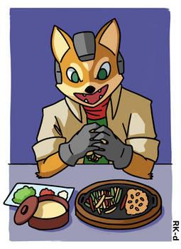 Fox McCloud Eating Chicken Fajitas