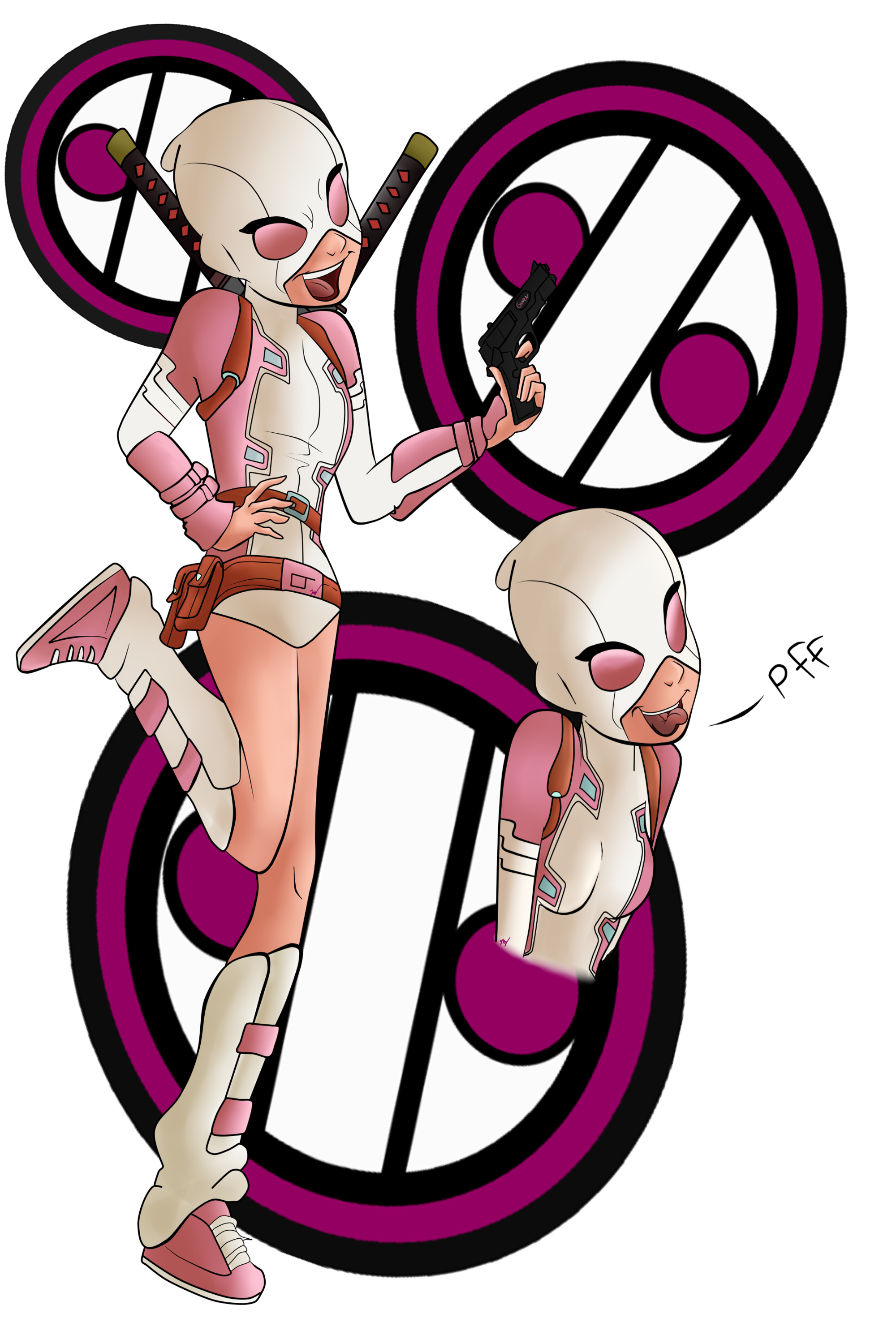 من از راه اومدم GwenPool by LindaBlack on DeviantArt