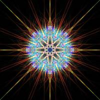 Rainbow Crystal Mandala by Trip-Artist