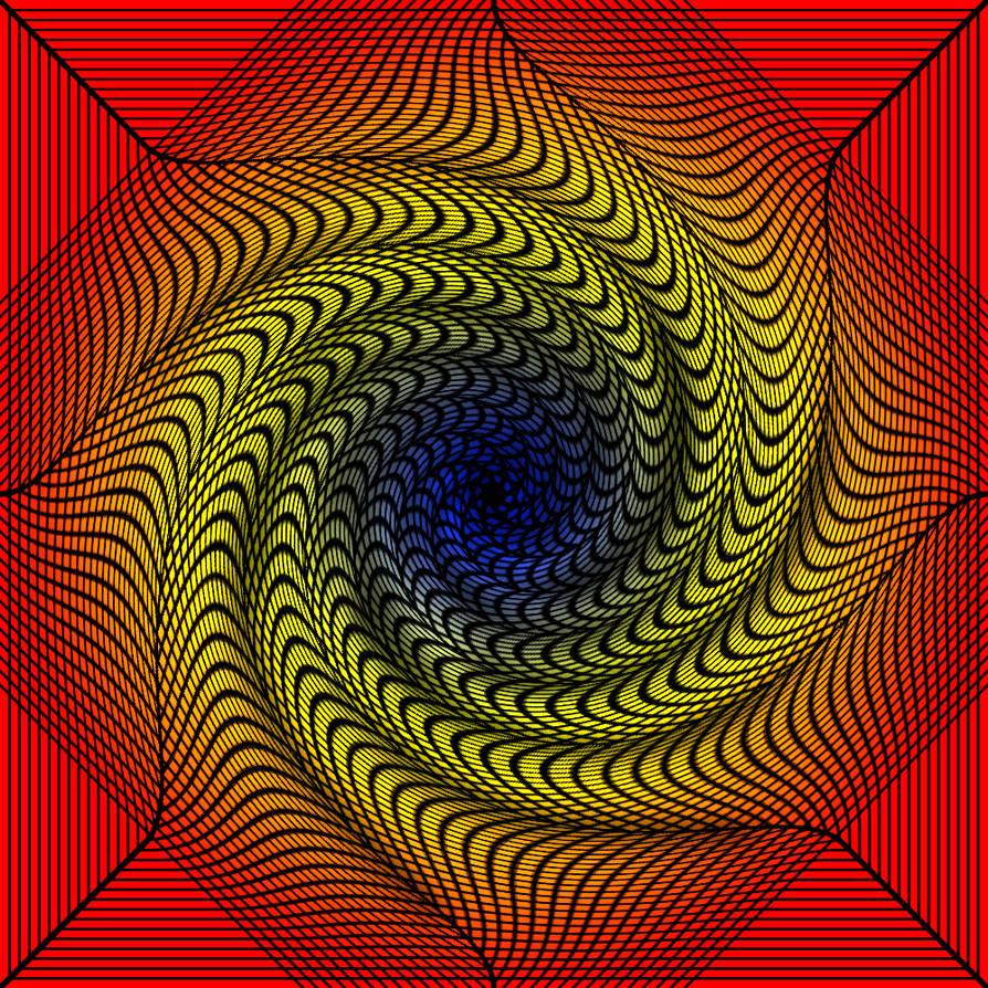 Chromadepth 3D Spiral Tunnel by Trip-Artist