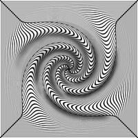 Black-White 3D twist by Trip-Artist