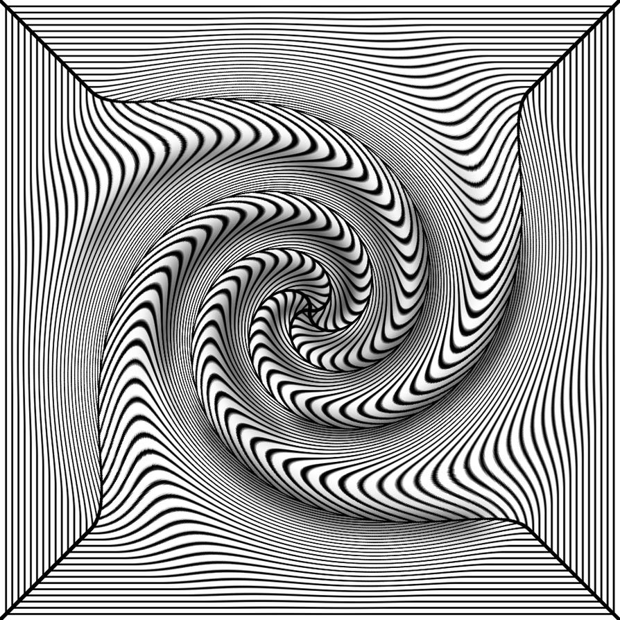 Black white 3d twist by trip artist on deviantart - Any design using black and white ...