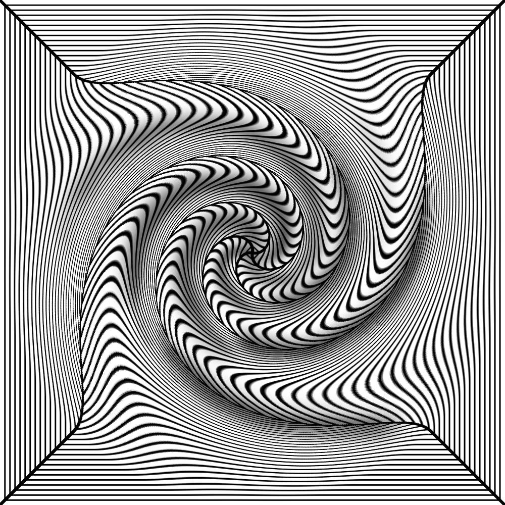 Black white 3d twist by trip artist on deviantart