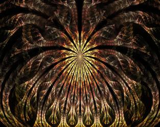 Fractal Sun Rays by Trip-Artist