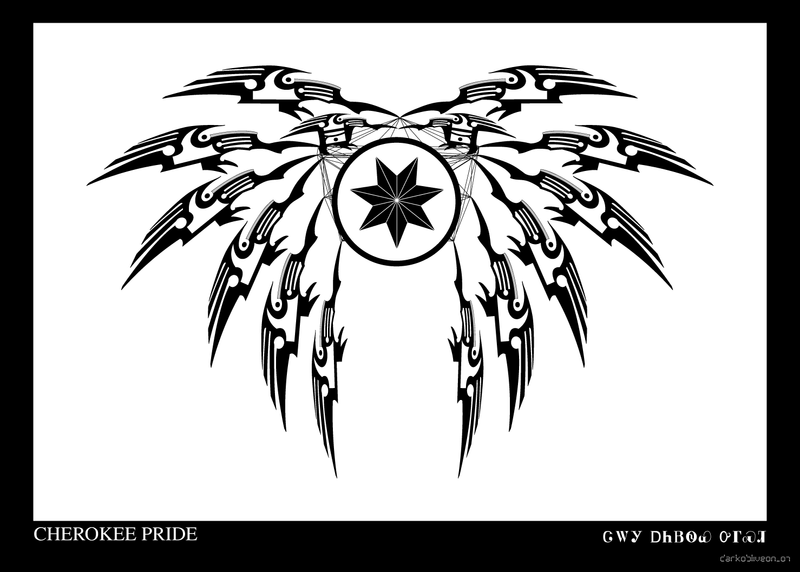 Cherokee pride by darkobliveon on deviantart for Cherokee indian tribal tattoos