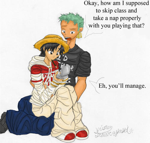 Skipping class -Luffy X Zoro- by Dreamwish
