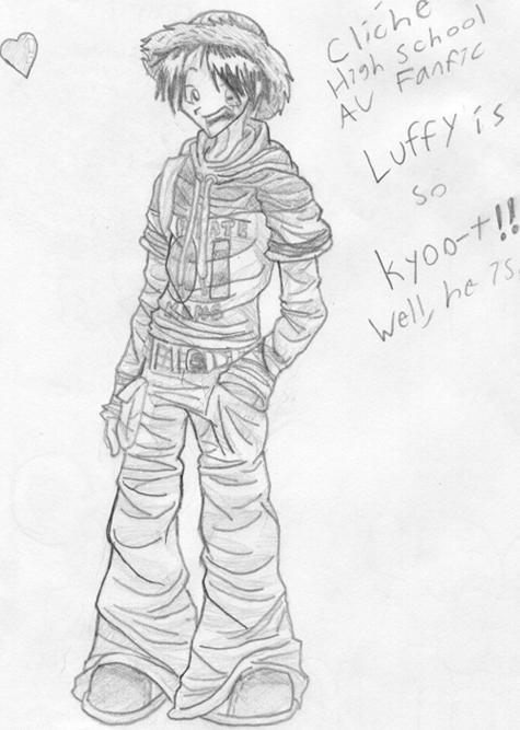 It's Highschool Luffy. Yay. by Dreamwish