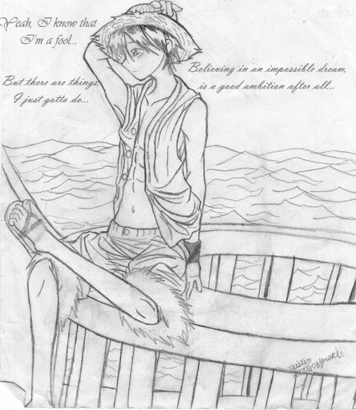 Dreaming fool. -Luffy- by Dreamwish