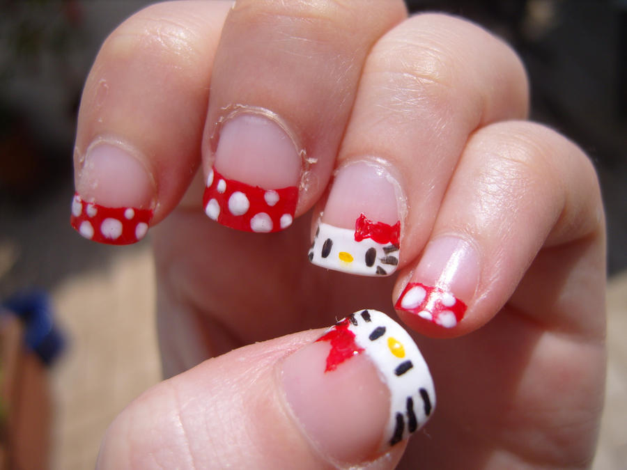 Hello Kitty Nails Second Attempt By Ez X On Deviantart