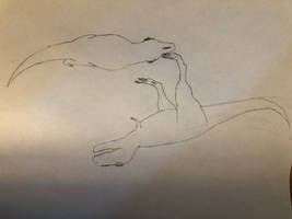 Tyrannosaurus fight (aka: I'm a shit artist)