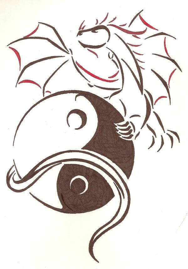 Yin Yang Dragon Abstract by Doofus96 on DeviantArt