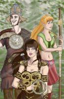 Xena, Gabrielle and Joxer