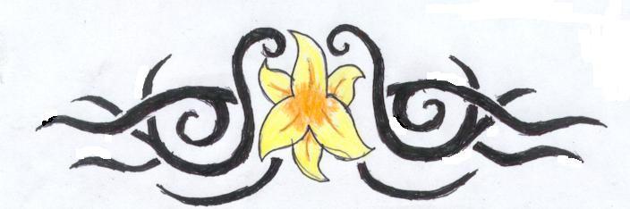 Flower Band Tattoo 1 - flower tattoo
