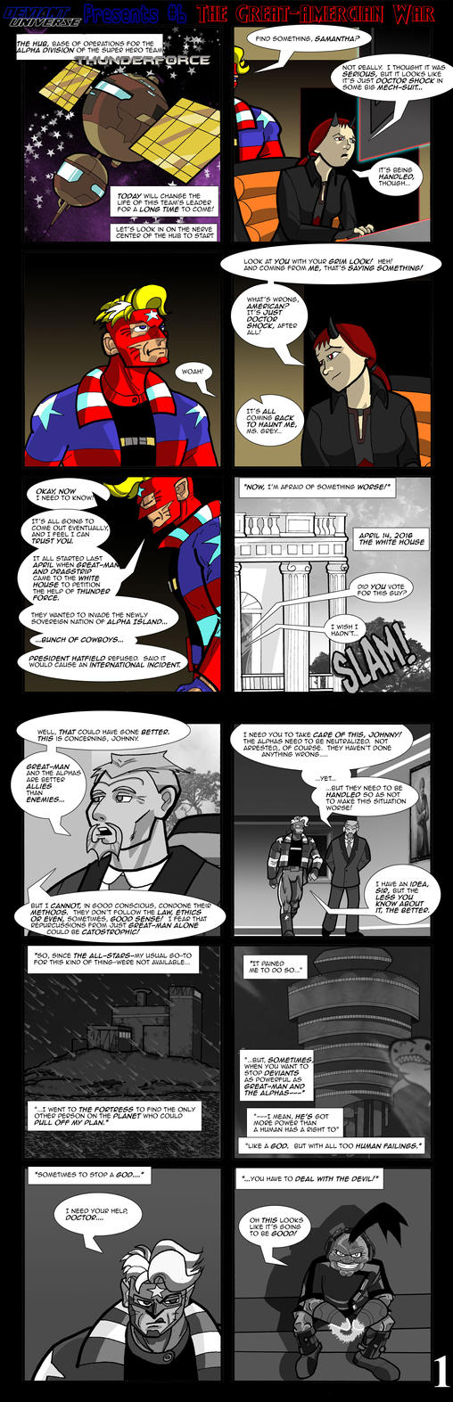 The Great-American War pg 1 by bogmonster