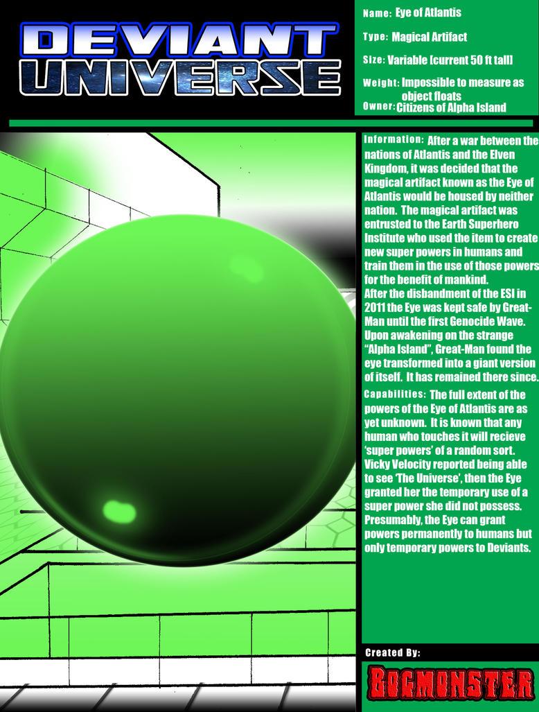 DU Reference:  Eye of Atlantis by bogmonster