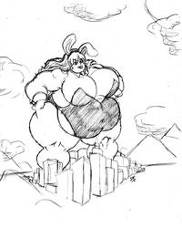 500ft Strongfat Bunnygirl