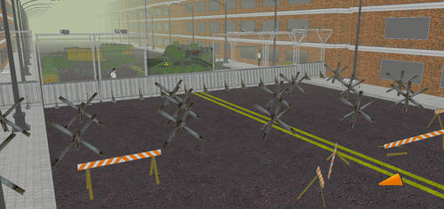 Zombie Barricade by MSgtHaas