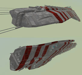 Battle Ship Huxter by MSgtHaas