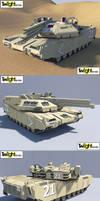 Dual Rail Gun Tank