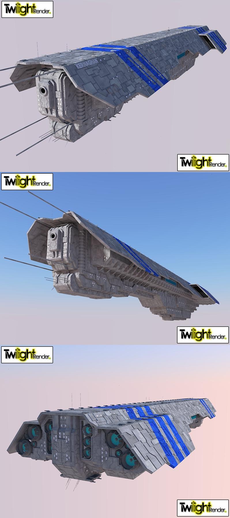 Battle Cruiser Kernaghan by MSgtHaas