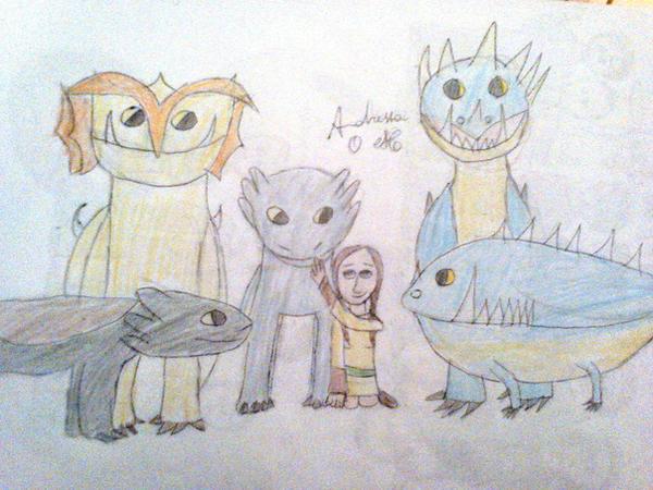 My family of dragons by AndressaNerdMuniz