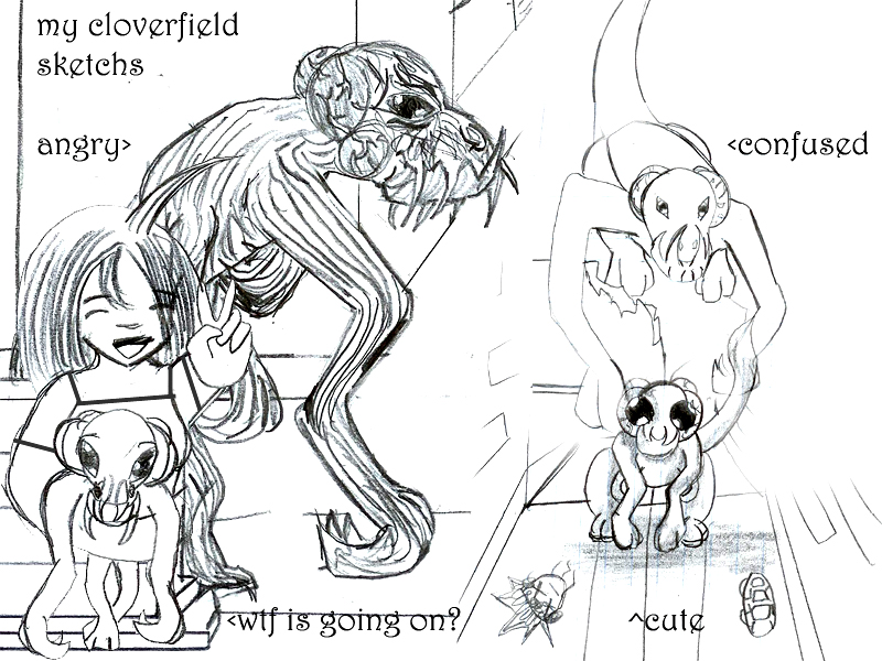 Cloverfield Sketches by Taiya001