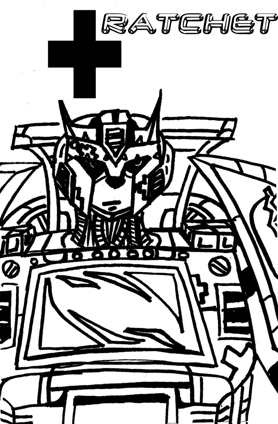 Transformers ratchet coloring coloring pages for Ratchet coloring pages