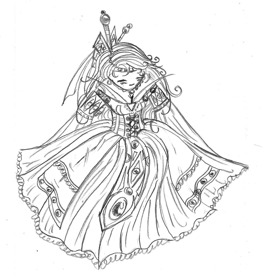 Princess Coloring Page By Taiya001