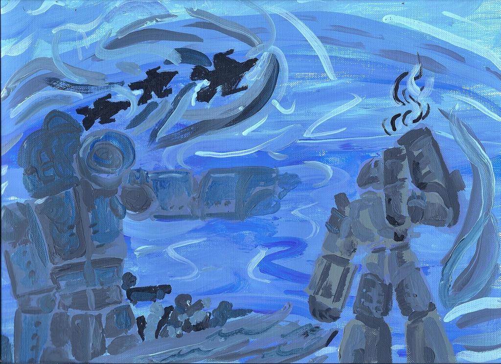 TF To War Painting by Taiya001