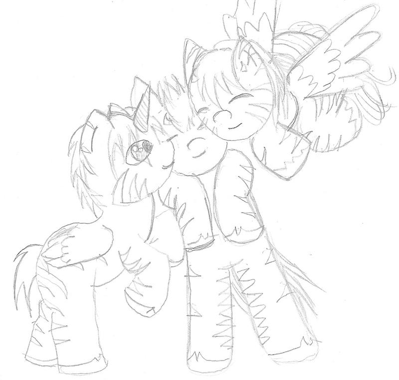 MLP FIM Lil colts and philly Snuggle by Taiya001