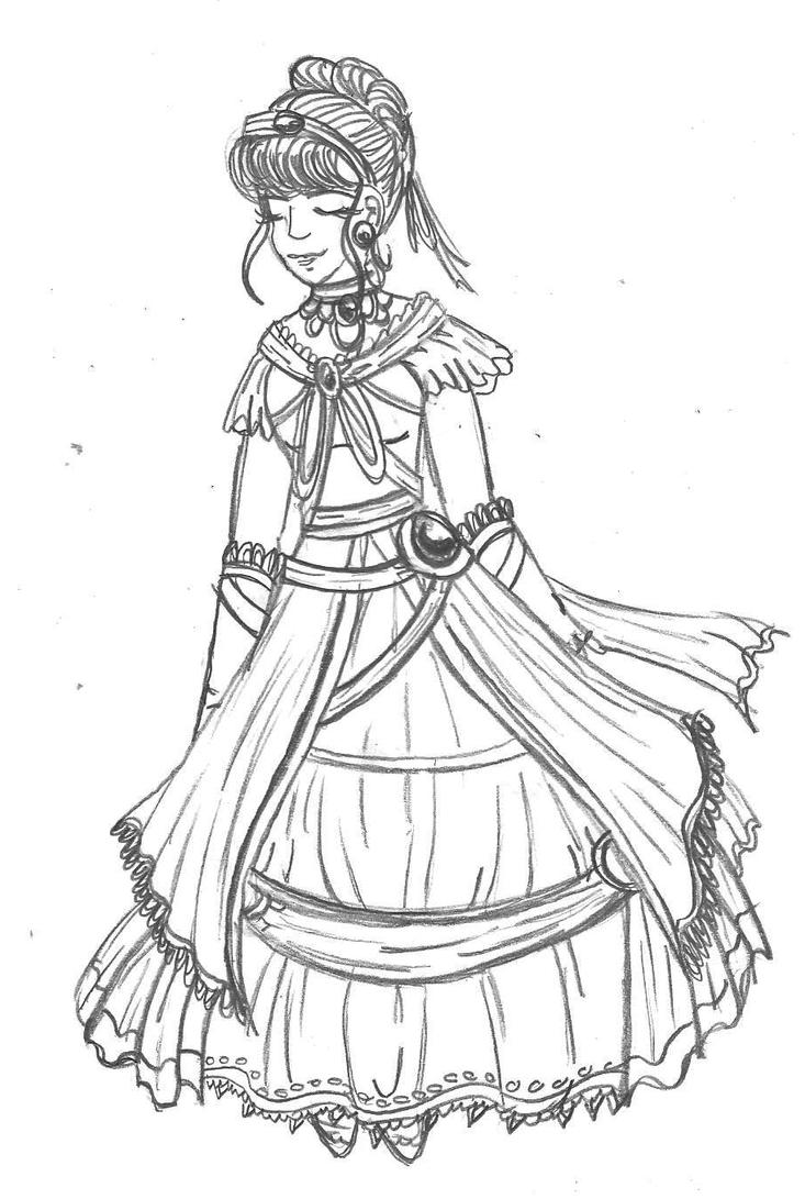 Coloring Book Color Cinderellas Dress By Taiya001